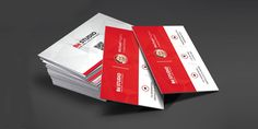Creative Red Business Card PSD