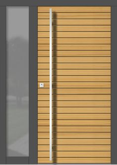 Holz Haustüren MODERN, Modellübersicht Wooden Door Design, Wooden Doors, Front Entrances, Entrance Doors, Blinds, Modern, Entryway, Windows, Curtains