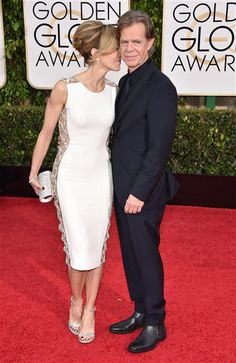 Felicity Huffman and William H. Macy arrive at the 72nd annual Golden Globe Awards at the Beverly Hilton Hotel in Beverly Hills, Calif., on Jan. 11, 2015.