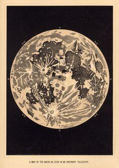 Public-Domain Vintage Illustrations Moon   Vintage Sun And Moon Illustration Vintage illustration ...