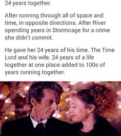 If you don't know this yet, sorry, not sorry; The Doctor & River Song