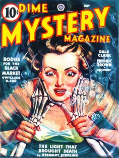 18x24 Vintage Sci-Fi Comic Book Print. Dime Mystery Magazine - The Light that Brought Death Poster -107. $30.00, via Etsy.