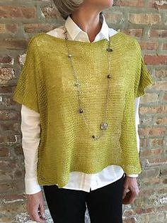 Square-ish is the simplest sweater you'll ever make, because it's just two r., Square-ish is the simplest sweater you'll ever make, because it's just two r. Knit Vest Pattern, Knitting Patterns, Knitting Ideas, Big Knits, Knitting Needles, Knitting Projects, Look Fashion, Knit Crochet, Sweaters For Women