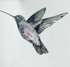 Hummingbird tattoo design finished. #art#artist #illustration #tattoo #nature #animal #birds #hummingbird #hummingbirdtattoo #watercolor