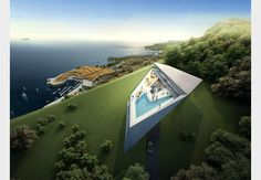 Zaha Hadid Architects has designed two prototype villas for a new golf and spa resort on the Croatian coast overlooking Dubrovnik.