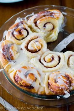 Sallys Baking Addiction Easy Cinnamon Rolls (from scratch). Easy Cooking, Cooking Recipes, Cinnamon Rolls From Scratch, Orange Sweet Rolls, Pastas Recipes, Recipies, Biscuits, Bowls, Sallys Baking Addiction
