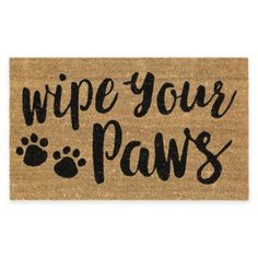 "DOOR MATS 18/"" X 30/"" WELCOME MAT /""WIPE YOUR PAWS/"" DOG BONE COIR DOORMAT"