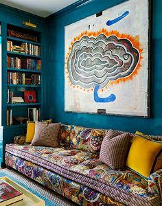 pattern mix.on sofa