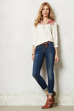 Levi's Made & Crafted Empire Skinny Jeans #anthropologie   OUTFIT IS VERY CUTE BUT TOO EXPENSIVE FOR ME.