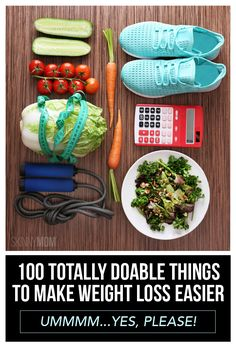 We've got 100 quick and easy things to make weight loss easier. Add these in to your routine and lose weight.