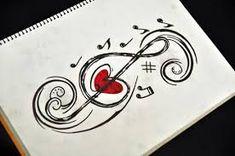 Resultado de imagem para desenhos preto e branco tumblr nota musical