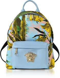 35f4934af2c8 Versace Jungle Print Cotton and Nappa Leather Palazzo Backpack handbags and  accessories handbags and purses fashion handbags top handbags luxurious  handbags ...