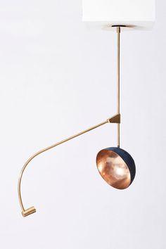 Orbit Bronze, brass 115 x 115 x 140 cm Unique Interior Lighting, Lighting Design, Walnut Timber, Pipe Lighting, Architecture Design, I Love Lamp, Home Decor Lights, African Artists, Black Chandelier