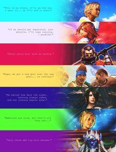 Final Fantasy X character quotes Final Fantasy Quotes, Final Fantasy Tattoo, Yuna Final Fantasy, Final Fantasy Artwork, Fantasy Love, Final Fantasy Cosplay, Final Fantasy Collection, Fantasy Series, Ed Wallpaper