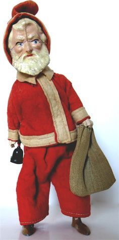 "Antique Dealers Association of America - ""Santa Claus Walking"" Wind-Up Toy Circa 1890 Ghost Of Christmas Past, Father Christmas, Santa Christmas, Christmas Ideas, Xmas, Vintage Santas, Vintage Toys, Christmas Sprinkles, Primitive Santa"