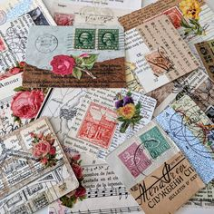 My little collection of collaged playing cards is growing. Now I've got to figure out how to display them. #collageart #atc #tinyart #vintagecollage #philately #stampart #stamps