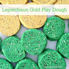 Celebrate St. Patrick's Day with this fun Homemade Leprechaun Gold Play Dough. We loved how green & gold glitter brought this fun craft to the next level!