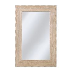 Shop allen + roth 24-in x 36-in Travertine Rectangle Framed Mirror at Lowes.com for 1/2 bath