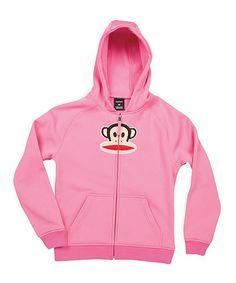 Look at this #zulilyfind! Pink Julius Fleece Zip-Up Hoodie by Paul Frank #zulilyfinds