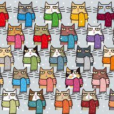 Gato atigrado gato, Acuarela Splatter-Tela Cojín Craft Panel de acolchar