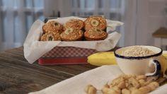 Queques de Banana, Amendoim e Aveia - receita | 24Kitchen