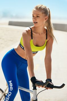 Vita Sidorkina Cycling style stars in Forever 21 2016 activewear campaign