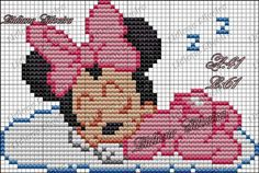 This Pin was discovered by JoA Disney Cross Stitch Patterns, Cross Stitch For Kids, Mini Cross Stitch, Cross Stitch Charts, Melty Bead Patterns, Loom Patterns, Baby Patterns, Crochet Disney, Disney Babys