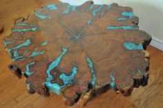 Mesquite table with turquoise inlay! (scheduled via http://www.tailwindapp.com?utm_source=pinterest&utm_medium=twpin&utm_content=post77854732&utm_campaign=scheduler_attribution)