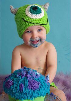 Crochet Monsters Inc Mike Beanie / Crochet by HandMadeByDz on Etsy