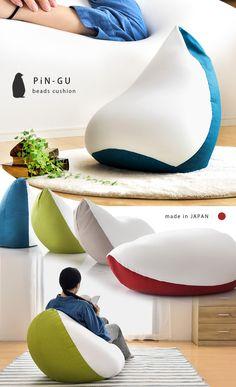 ビーズクッション PiN-GU 座椅子 日本製 ジャンボ クッション 抱き枕   家具通販 タンスのゲン