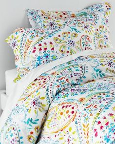 Garnet Hill Sheets - Amelie Printed Percale Bedding
