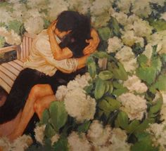 — orwell:   Lovers In The Garden by Joseph Lorusso