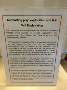 Self registration. Early Years Teaching, Early Years Classroom, New Classroom, Preschool Classroom, Early Learning, Kindergarten, Learning Stories, Play Based Learning, Learning Quotes