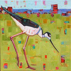 Stalking Stilt, by Rene Wiley by René Wiley Gallery  ~ 16 x 16