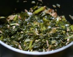 TURNIP GREENS RECIPE: Take a  look at this recipe for making some traditional Southern turnip greens.
