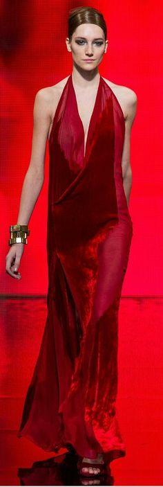 Donna Karan - red couture -2014