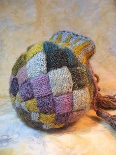 Ravelry: Entrelac Treasure Bag pattern by Mimi Kezer