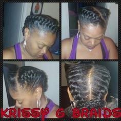Goddess braids!!!!!
