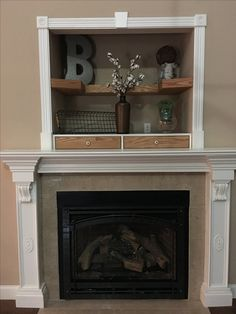 Before Amp After Mantel Covering The Tv Niche Above The