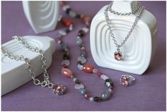 Aubree Collection Available Oct '12 http://SusieV.WillowHouse.com Beautiful tourmaline quartz & sterling silver.