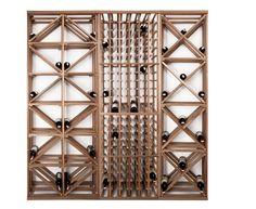 Ceviz ağacından üretilmiş Şarap stoklama ünitesi; wine cellar storage unit