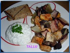 Ražniči z pomalého hrnce - fotoalba uživatelů - Dáma.cz Tzatziki, Fajitas, Potato Salad, Slow Cooker, Potatoes, Meat, Chicken, Ethnic Recipes, Ph