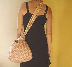 I am making this right now. :-) japanese knot bag (justinestandaert) Tags: pink green bag women colorful patterns funky knot cotton elegant handbag