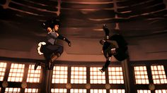 The fight of Korra and Kuvira in Legend of Korra Korra Avatar, Team Avatar, Anime Fight, Avatar World, Avatar Series, Avatar The Last Airbender Art, Korrasami, Fire Nation, Fan Art
