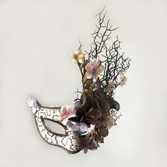 Buy Fine Venetian Broadway Floral Tree Branches Antler Mask Masquerade Christmas Makeup Party Fancy Dress Makes Accessories at Wish - Shopping Made Fun Masquerade Costumes, Masquerade Party, Masquerade Mask Makeup, Animal Masquerade Masks, Masquerade Dresses, Mascarade Mask, Floral Headdress, Gold Hair Accessories, Venetian Masks