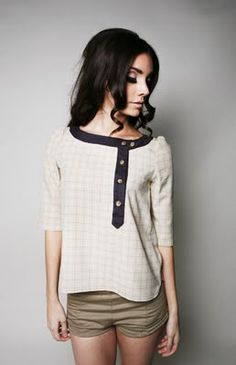 I love the neckline and buttons on this shirt