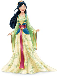 Princess Mulan redesign - It's beautiful but like the Pocahontas redesign I don't think it suits her.