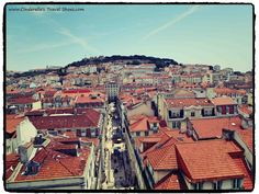 Amazing view to the centre of Lisbon from the Tower of Santa Justa