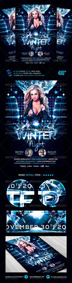 Winter Night Flyer Template. download psd here only $6 : http://graphicriver.net/item/winter-night-flyer-template/5478697?WT.ac=portfolio&WT.seg_1=portfolio&WT.z_author=InTheSky15