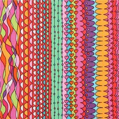 colourful pattern stripe fabric by Timeless Treasures
